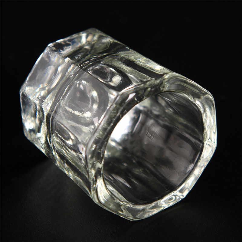 1 قطعة صحن الزجاج Dappen كوب زجاج كريستال شفاف لأداة أظافر تركيب من الأكريليك لفني الأظافر