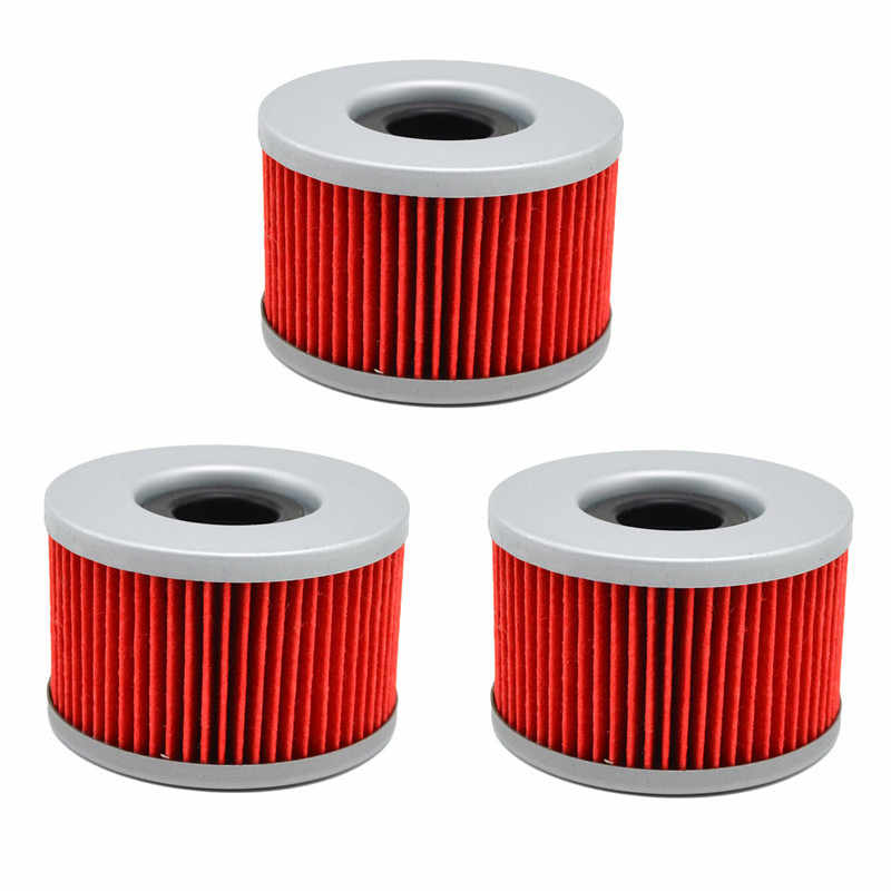 3pcs Oil Filter For Honda CBX400 F 1983-1986 CBX550 1981-1986 CX400 EC CB400 CB250 SUPERDREAM CX500 CX650 C/D GL500 GL650