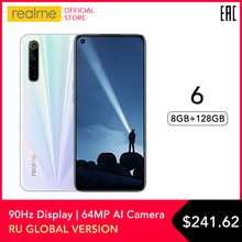 realme 6 8GB RAM 128GB ROM Global Version Mobile Phone 90Hz