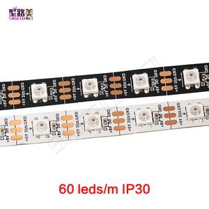 Image 3 - 1m 5m DC5V WS2812B WS2812 Led פיקסל רצועת מיעון בנפרד חכם RGB Led רצועת אור קלטת שחור לבן PCB IP30/65/67