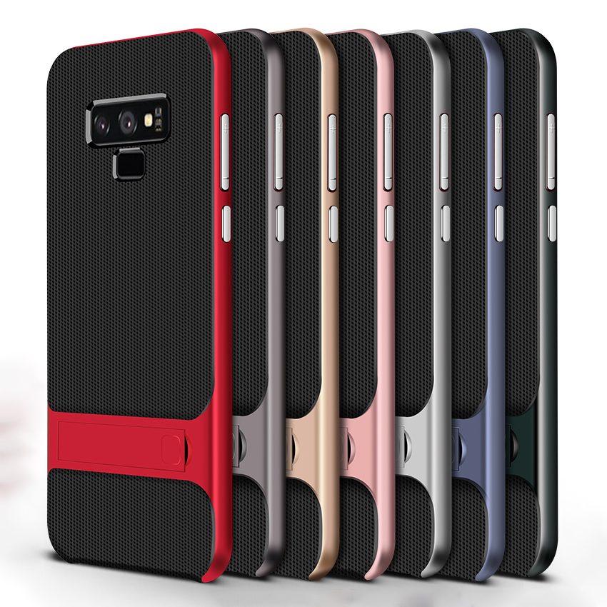 Silicone Mobile Cover Stand Case for Samsung Galaxy Note 9 Case Shockproof 360 Protective 3D Hybrid PC Note9 Fundas Capa Housing