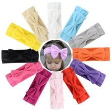 12pcs/lot Girl Bow Hairband Turban Knot Rabbit Headband Soft Cotton Headwear Rabbit Ear Bow Hair Accessories Bandanas 906