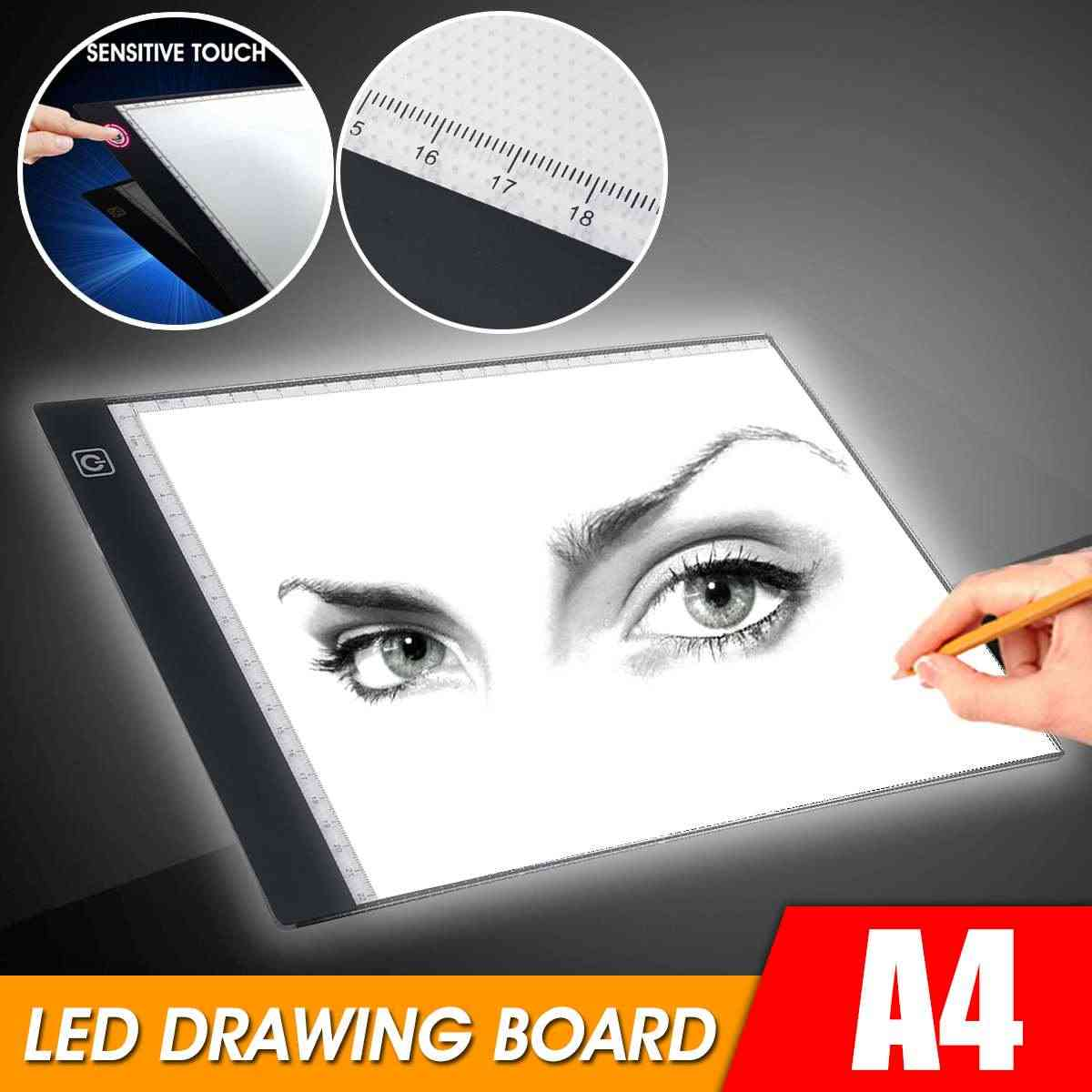 A4 Dimmbar LED Lichttisch Lightpad Box Leuchttablet Tracing Board Touchpad DE