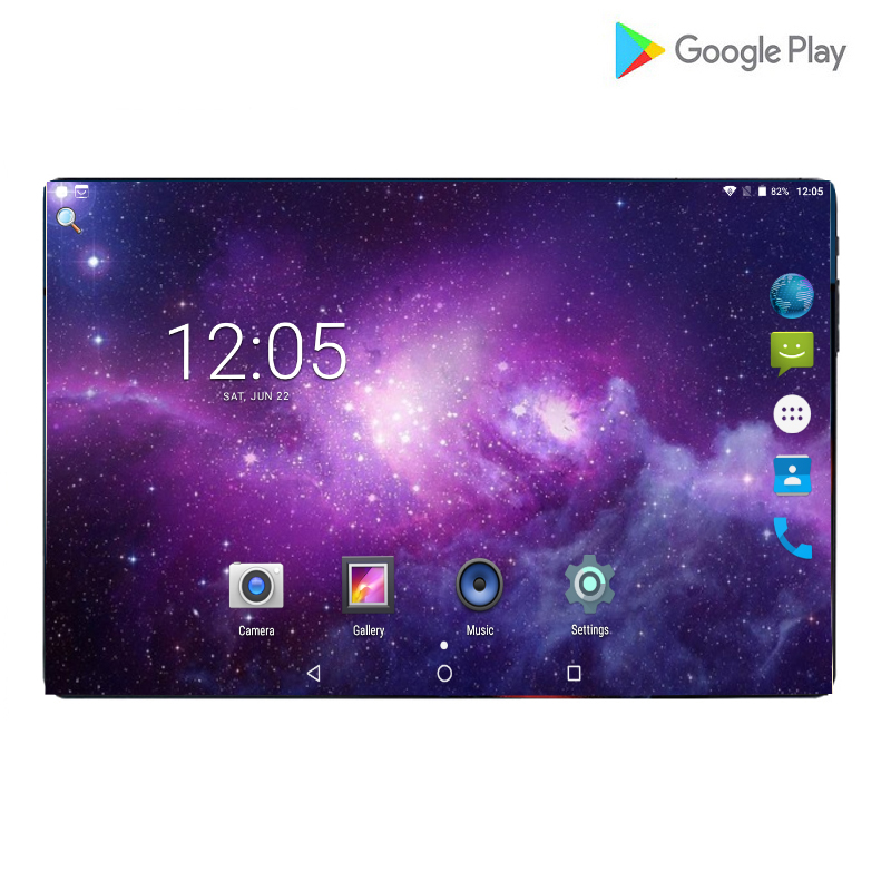 2019 New Global Version 9.0 Android Tablet 10.1 Inch 4G Phone Call Wifi GPS Bluetooth 6GB + 64GB Tablets PC New Touch Gift Pack