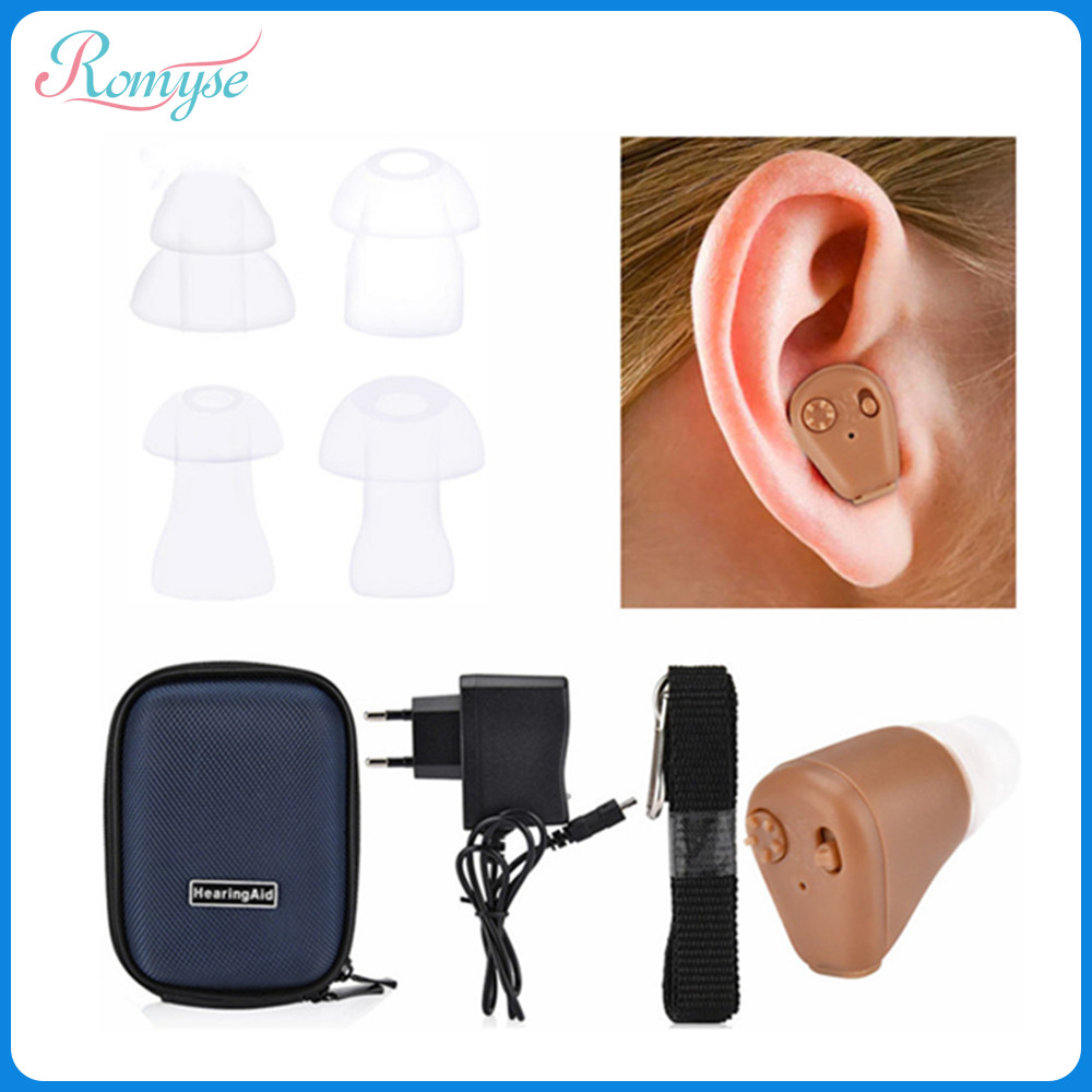 Rechargeable Hearing Aid With Storage Bag Sound Voice Hearing Amplifier Hearing Aids For Elderly Deafness-in Ear Care from Beauty & Health
