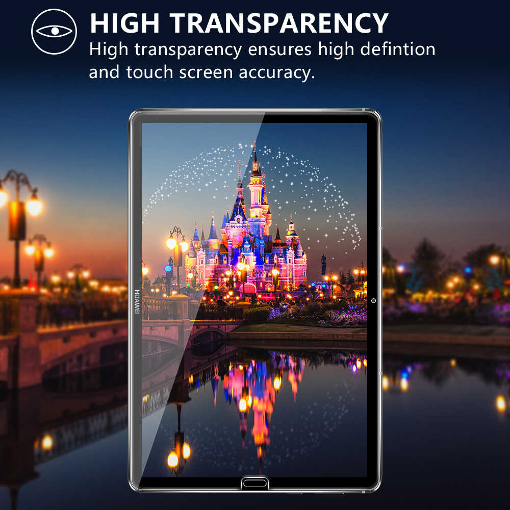 2 Cái/lốc Kính Cường Lực Dành Cho Huawei MediaPad M6 (Pro) 10.8 SCM-AL09/W09 Tấm Bảo Vệ Màn Hình Cho M5 10.8 Máy Tính Bảng Màng Bảo Vệ