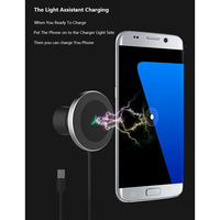 for Samsung Galaxy S10 / S9 / S8 10W USB car wireless charger for iPhone XsMax / Xs / Xr / 8plus Qi magnetic wireless car charge
