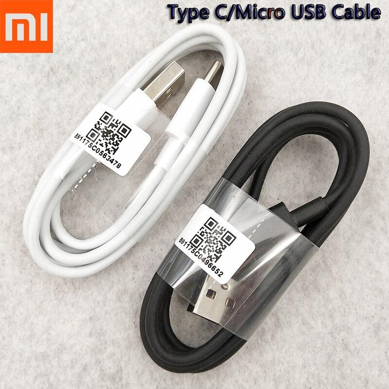 Оригинальный кабель Xiaomi Micro USB/Type C, зарядное устройство, синхронизация данных для Redmi 8A 7A 5A S2 6A 4X Note 6 7 8 9 Pro 8T, шнур зарядного устройства, провод,...