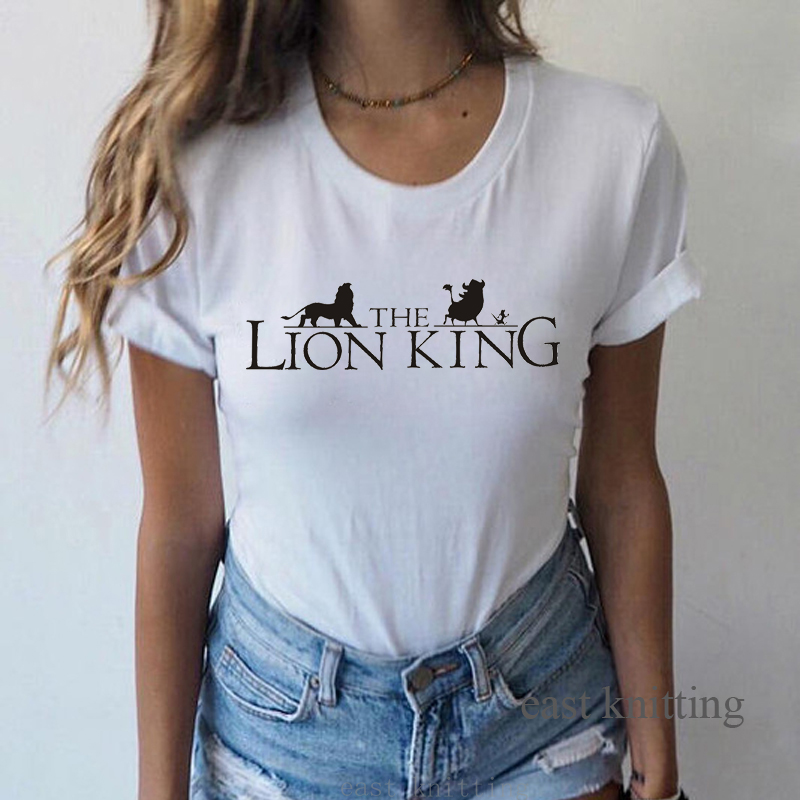 Hakuna Matata Family Matching <font><b>T</b></font>-<font><b>shirts</b></font> With <font><b>The</b></font> <font><b>Lion</b></font> <font><b>King</b></font> <font><b>T</b></font> <font><b>Shirt</b></font> <font><b>Women</b></font> Vacation Casual Short Sleeve Tops Female Tee Soft <font><b>Shirts</b></font> image