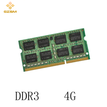 GZSM Laptop Memory DDR3  4GB Cards 1066MHz 1333MHz 1600MHz RAM 204pin for PC3 8500 10600 12800