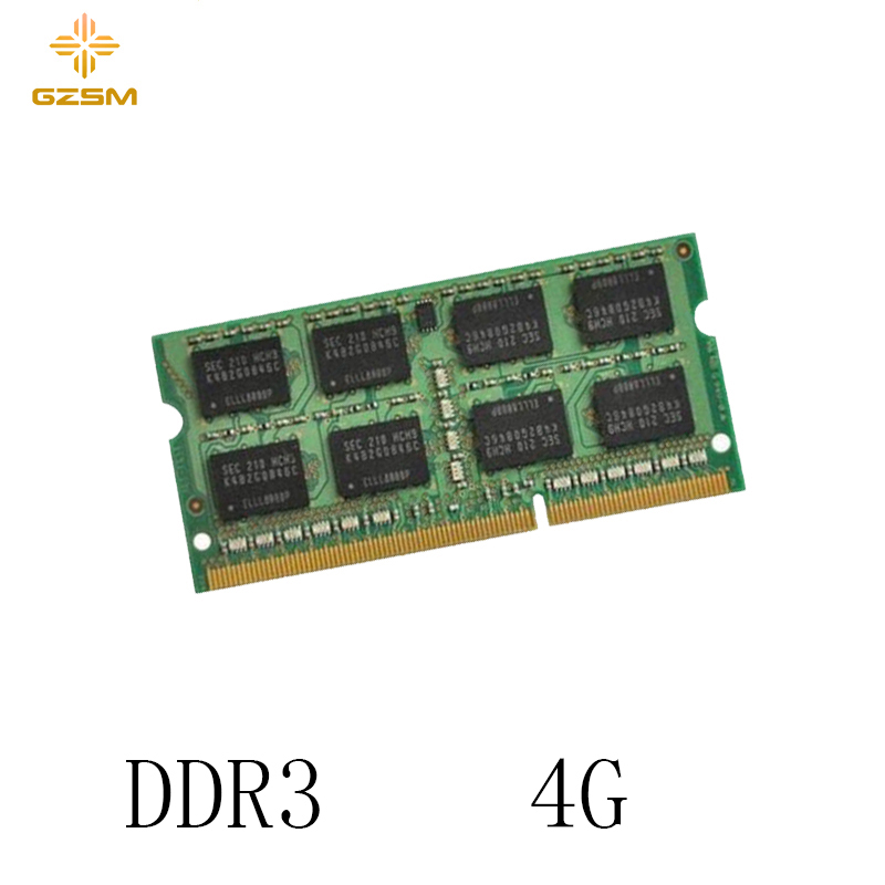 GZSM Laptop Memory <font><b>DDR3</b></font> 4GB Memory Cards <font><b>1066MHz</b></font> 1333MHz 1600MHz Memory RAM 204pin for PC3 8500 10600 12800 image