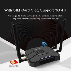 Гигабитный wifi роутер 5G двухдиапазонный 4G беспроводной маршрутизатор sim-карта 16 Мб 1200 Мбит/с модный дизайн с белой/черной точкой доступа
