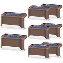 Deck de energia solar luzes ao ar livre branco quente 1 pacote levou luz passo solar à prova dwaterproof água parágrafos escadas deck ao ar livre