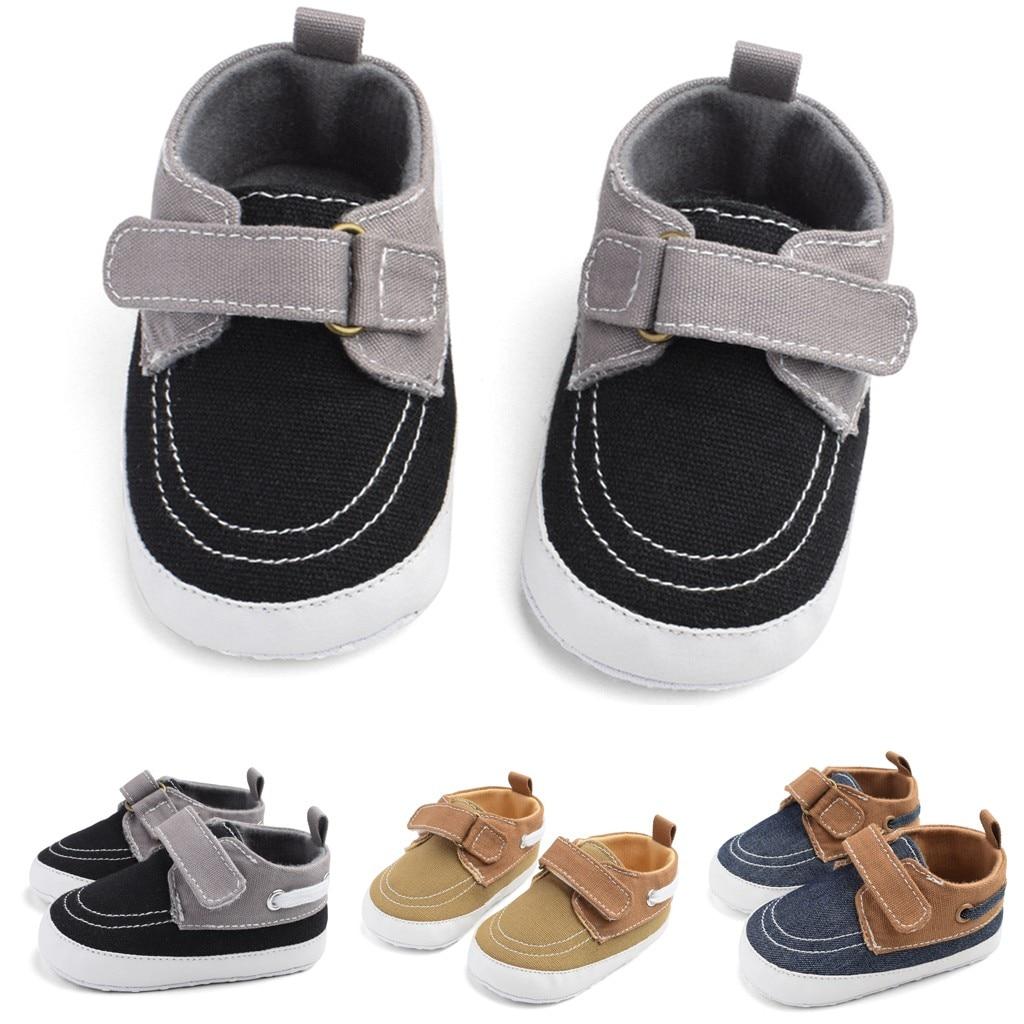 MUQGEW First Walk Shoes Kids Baby Girls Boys Shoes Cute Canvas Hook&loop Splice Casual Shoes Buciki Dla Niemowlat Py4