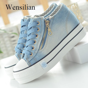 Fashion Sneakers Women Casual Canvas Shoes Tenis Feminino Comfy Ladies Vulcanize Shoes Lace Up Trainers Women Zapatos Mujer 2019 1