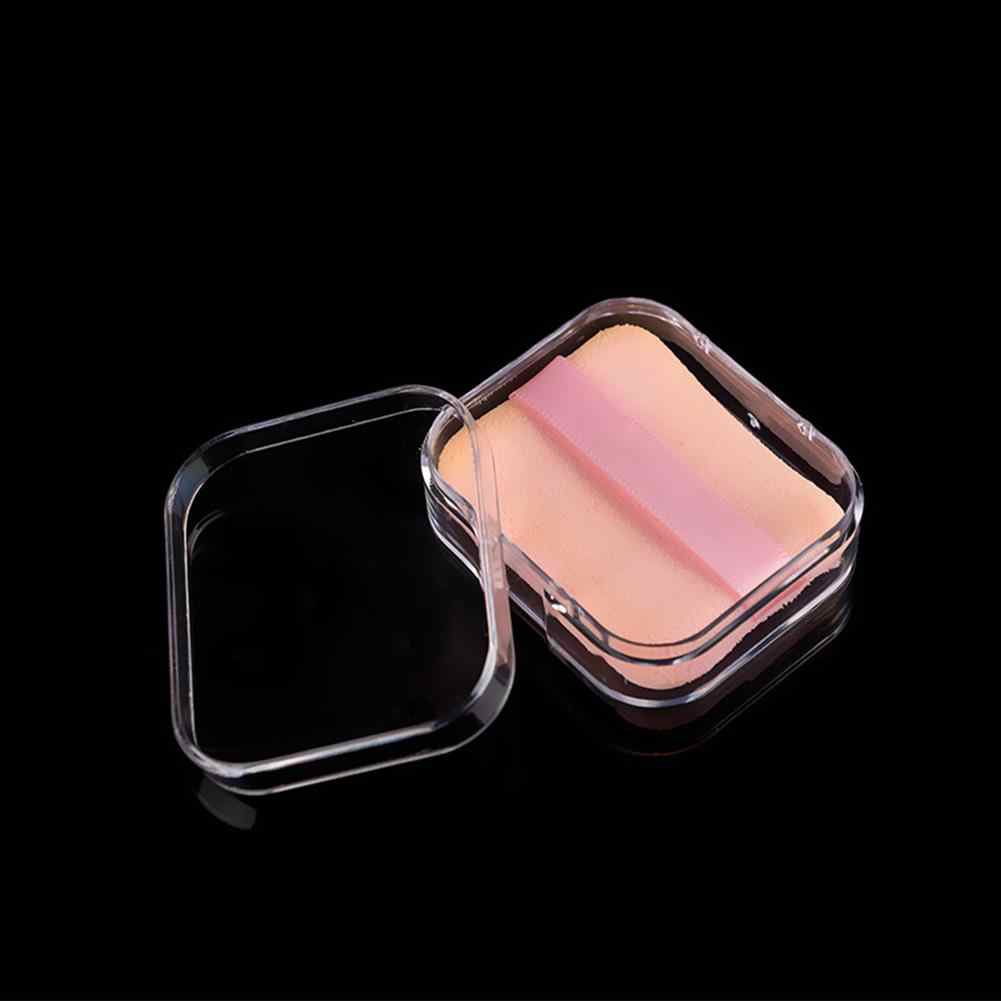 Draagbare Clear Storage Box Ketting Ring Organizer Rechthoek Poederdons Houder