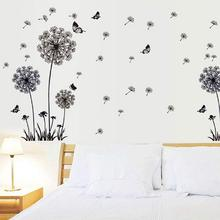 Dandelion Butterfly Wall Sticker Bedroom Adornment Art Decals Home Decoration Butterflys Stickers