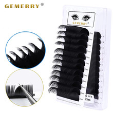 25mm Individual Extension Eyelashes Natural Soft Volume Lashes Faux Mink Classic Lashes Handmade Korea Silk Mink Lash Supplies