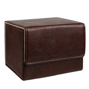 Image 3 - Nieuwe Collectie Retro Pu Capaciteit Doos Trading Cards Container Collectie Voor Bordspel Mouw Houder Case