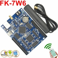 FK 7W6 wifi led control card Ethernet/USB wireless PC/Phone APP full color support p10,p6,P5,p4.75 led controller board