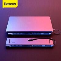 Baseus Multi USB C HUB zu VGA RJ45 3,0 USB HUB für MacBook Pro Typ C HUB Computer Zubehör 11 ports Splitter USB C HUB