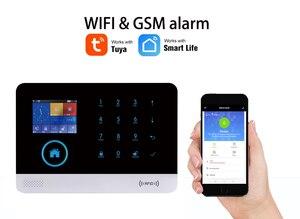 Image 3 - WOFEA sistema de alarma inalámbrico WIFI/GSM RFID, sistema de seguridad antirrobo con pantalla LCD táctil, compatible con Smart Life, Tuya, Alexa y Google Home
