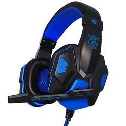 Проводные Игровые наушники, Накладные наушники с микрофоном, стереонаушники с глубокими басами для Xbox One, ПК, геймеров