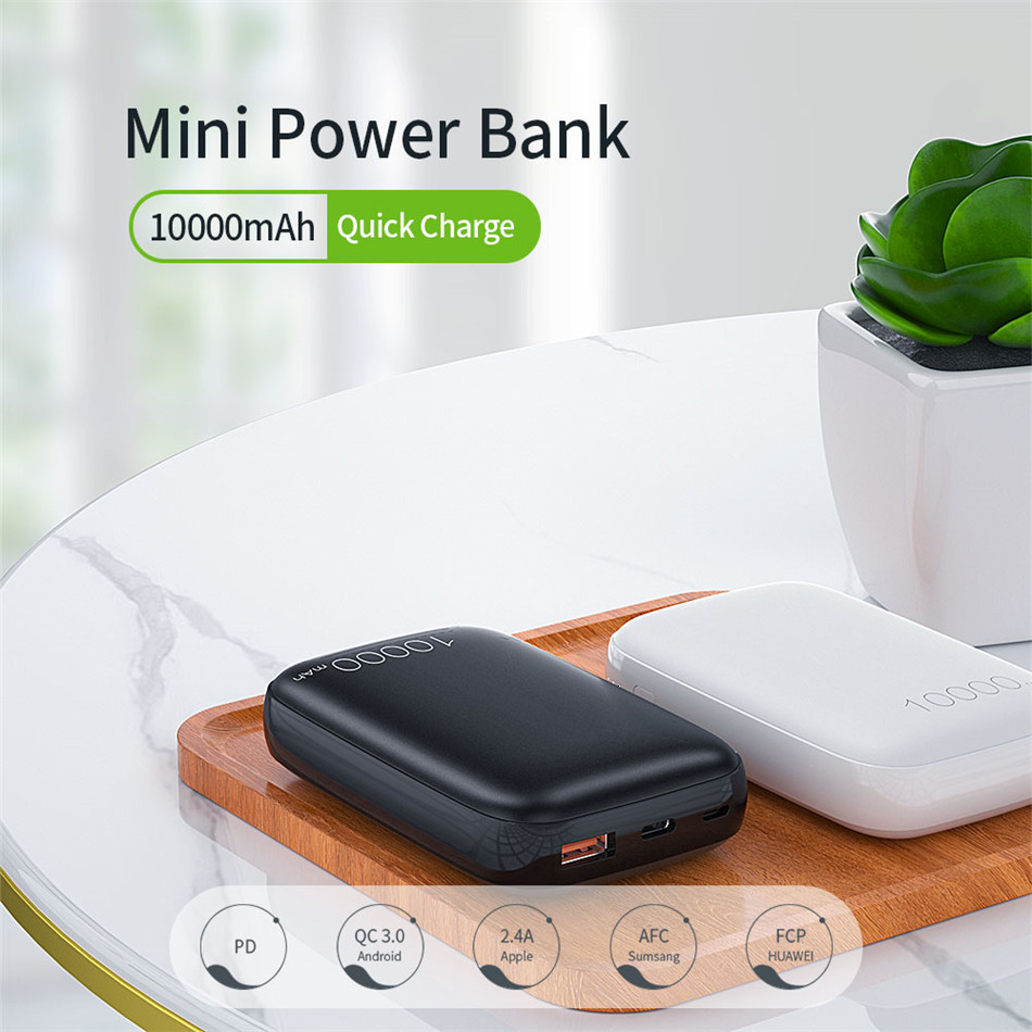 Essager 10000mAh Mini Power Bank 10000 Quick Charge 3.0 Powerbank For iPhone 11 Pro Max USB PD Portable External Battery Charger 1