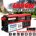 Spitzen 6000W Auto Wechselrichter Modifizierte Sinus Welle Solar Power DC 12/24V Zu AC 220V Spannung transformator Adapter Lade Konverter