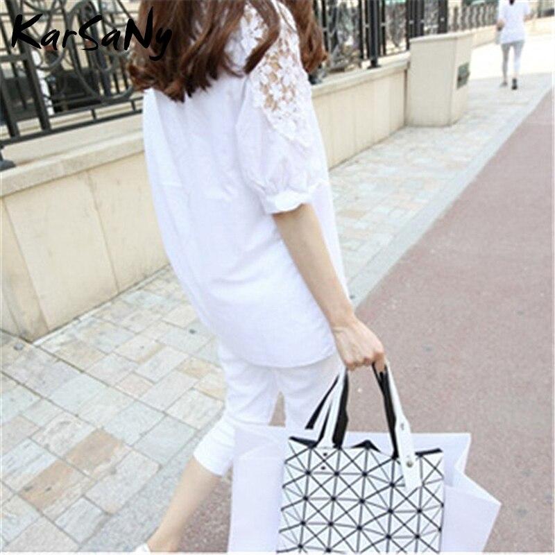 KarSaNy Plus Size White Embroidery Blouses For Women Summer 2021 Long Black Tops Summer Women's OL Shirts Women Cotton Blouse Women Women's Blouses Women's Clothings
