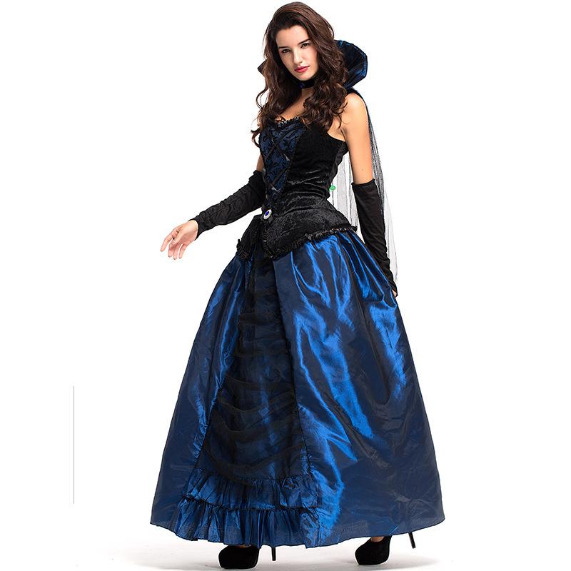 Adult Enchantress Costume Ladies Vampire Hooded Robe Halloween Fancy Dress New