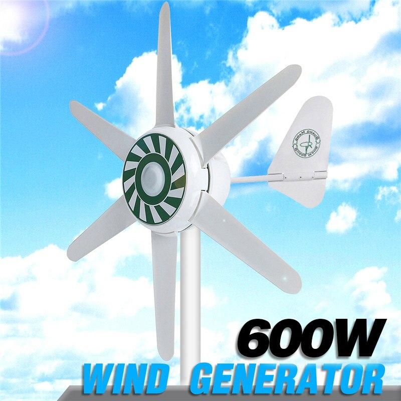 Kit de generador de turbinas eólicas para el hogar, 6 aspas, 300W, generador de viento Solar híbrido, 12/24V
