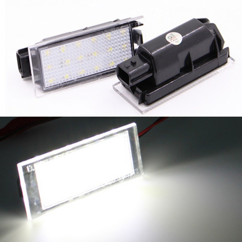 2Pcs Car <font><b>LED</b></font> Number License Plate Light For <font><b>Renault</b></font> Megane 2 Clio Laguna 2 Megane <font><b>3</b></font> Twingo <font><b>Master</b></font> Vel Satis image
