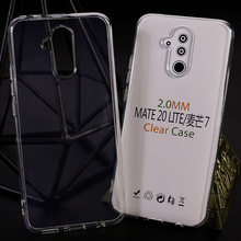 2mm Clear Soft Gel Silicone Case For Mate 30 Lite P30 Pro Honor 20 9X Nova 5 P20 2019 High Quality Anti-knock Back Cases(China)