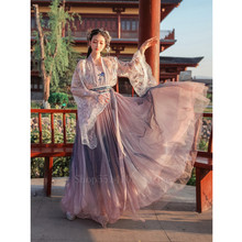Chinese Ancient Costume Women Traditional Hanfu Elegant Fairy Embroidery Princess Dress Folk Performance Stage Fairy Cosplay(China)