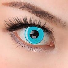 Цветные контактные линзы для глаз на Хэллоуин синие фиолетовые