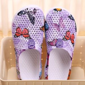 Image 5 - 여름 여성 슬리퍼 슬립 0n 나 막 신 신발 빠른 드라이 비치 수영 물 신발 크리 에이 티브 나비 샌들
