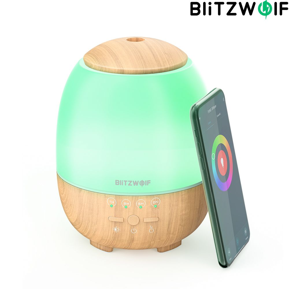 BlitzWolf BW-FUN3 Wi-Fi Smart Aroma Diffuser Humidifier Ultrasonic Atomization APP Control Colorful Light For Home Office