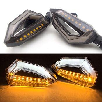 Universal luces de señal de giro para motocicleta lámpara LED ámbar intermitentes moto para yamaha vmax honda 1200 x4 transalp yamaha r1 2004