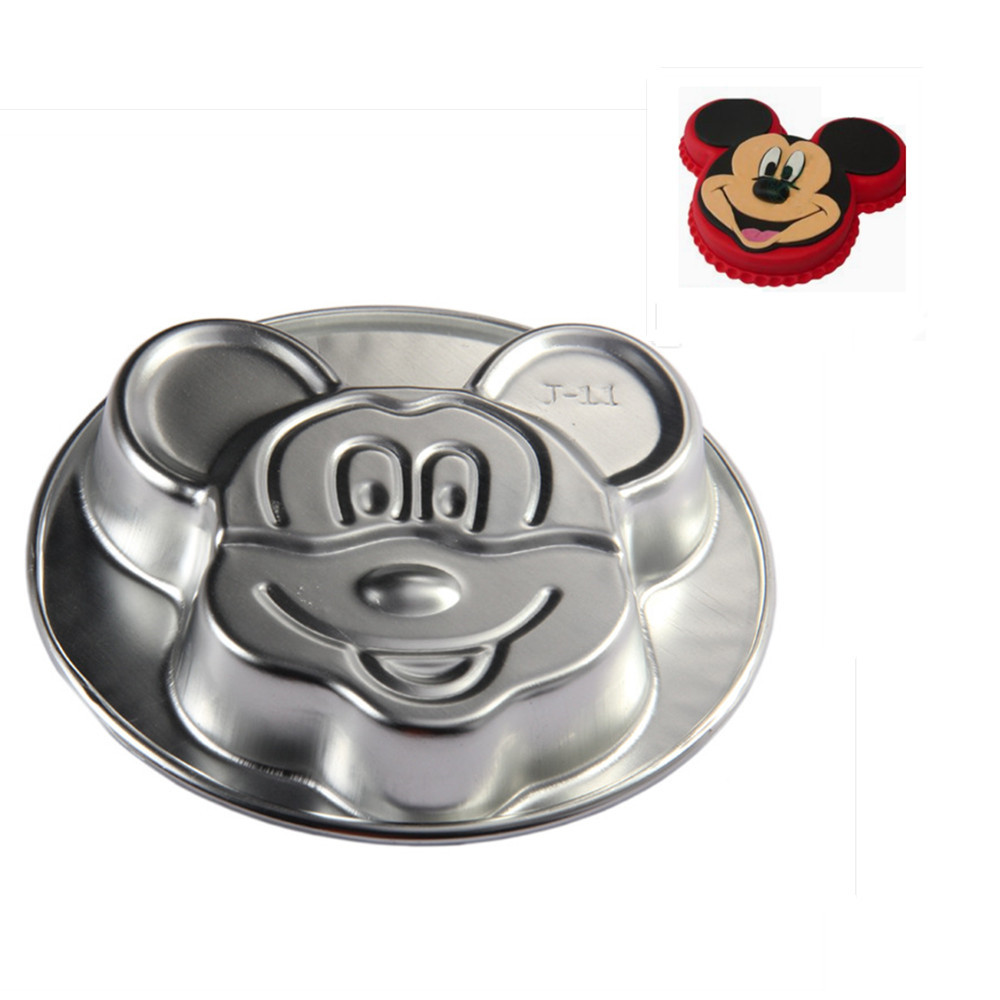 1pc High Quality Aluminum Alloy Cake Mold Large Cartoon Mouse Small Cake Mold Baking Molds Kitchen Tools Dropshipping