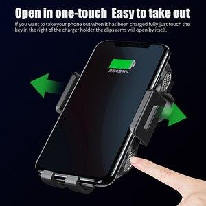 Image 3 - Automática Do Carro Montar Carregador Sem Fio Qi para Samsung Galaxy Nota 10 Plus 10 + 5G Móvel Acessórios de Carregamento Rápido suporte do Telefone do carro