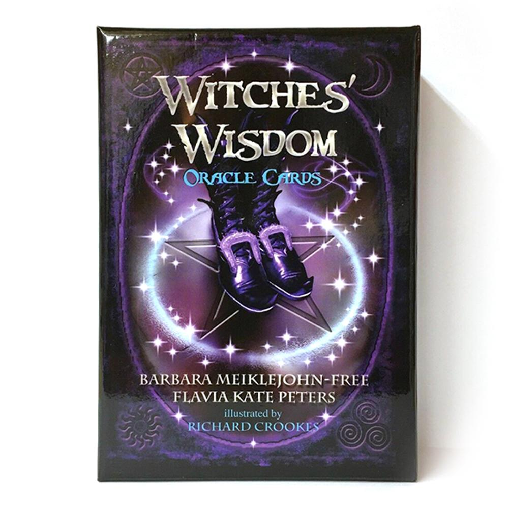48Pcs/pack Witches Wisdom Oracle Cards English Deck Game Cards Stunning Mysterious Deck Witches Tarot Card Party Games