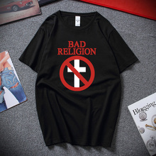 Men Tops T-Shirt Bad-Religion Short-Sleeve Cross-Buster Casual Summer Cotton O-Neck New