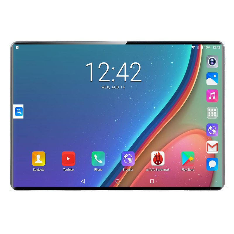 Newest 10 Inch Tablet Android 9.0 Octa Core 8GB RAM 128GB ROM 3G 4G FDD LTE Wifi Bluetooth GPS Phone Call Glass Screen Tablet Pc