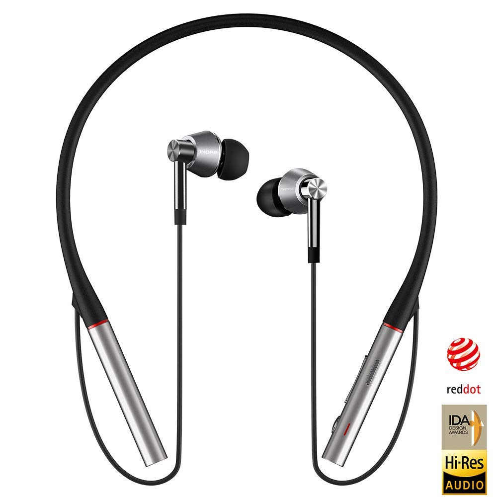 1 więcej E1001BT hi-res potrójny sterownik Bluetooth HiFi douszne słuchawki z LDAC bezstratna bezprzewodowa jakość dźwięku sportowe słuchawki douszne
