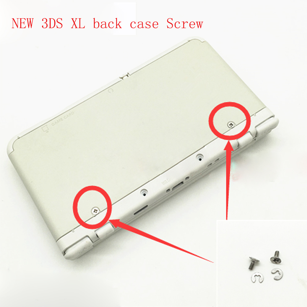 Купить с кэшбэком Original SNES US Version Silver Top & Bottom Cover Case For NEW 3DS XL Surface & Battery Case Cover Shell Included Screw
