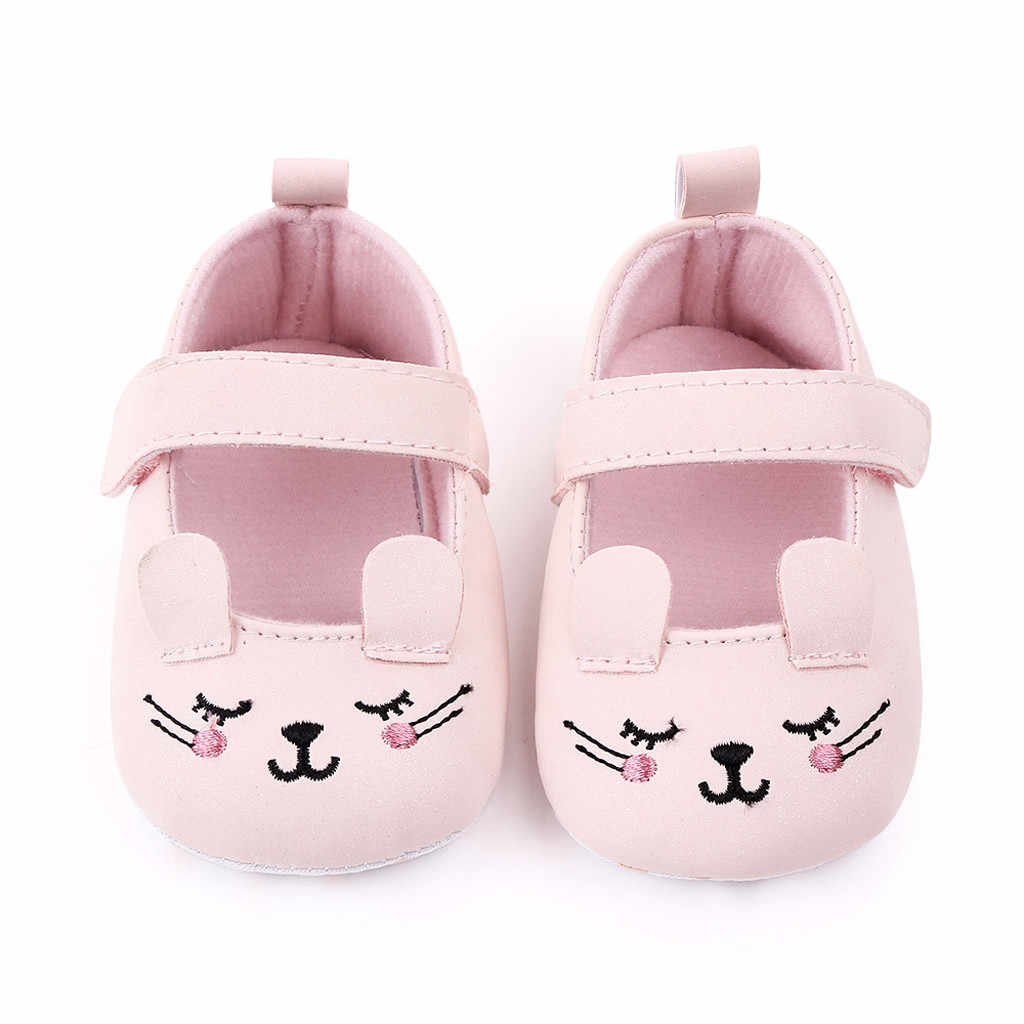 Cute Newborn Baby Girl Gold Velvet Toddler First Walkers Kid Shoes Children Kawaii Cartoon Pattern Slip On Sneakers For 0-18m