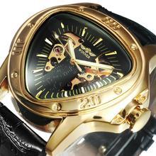 Montre mécanique hommes automatique montres bracelets hommes 2020 marque supérieure luxe Triangle squelette or grand boîtier + boîte cadeau