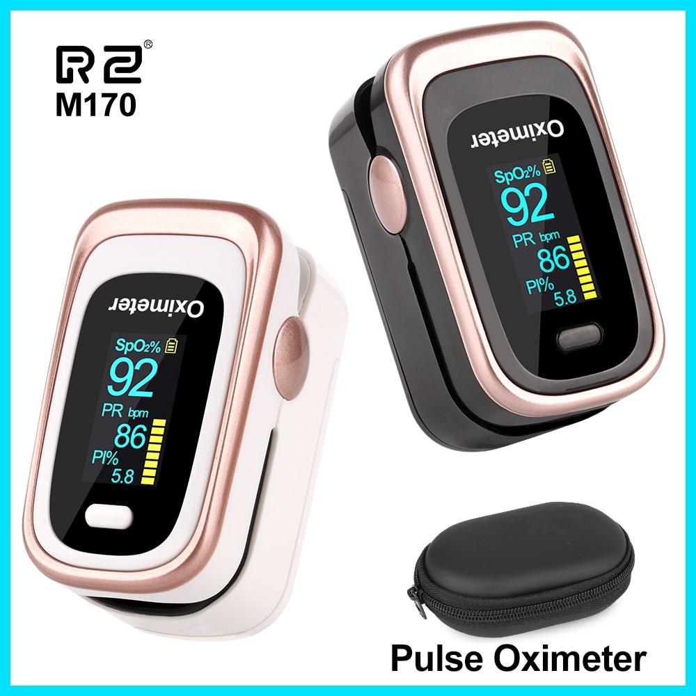 Oxymètre de pouls du bout des doigts RZ oxymètre de tension artérielle Portable soins de santé PR alarme moniteur de sommeil oxymètre de pouls