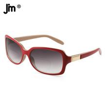 JM kwadratowe okulary przeciwsłoneczne okulary dwuogniskowe kobiety gradientowe szkła okulary przeciwsłoneczne do czytania tanie tanio WOMEN Jasny szary CN (pochodzenie) Okulary do czytania ZTPT0062 40cm Z tworzywa sztucznego 57cm